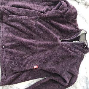Purple the north face sweatshirt